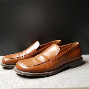 Mens unique brown Prada shoes